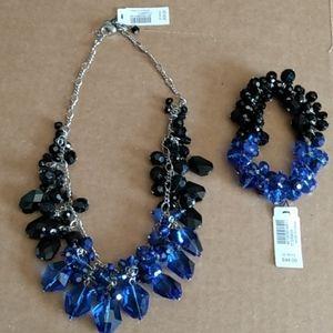 WHBM Necklace & Bracelet Set